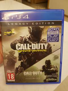 PS4 Call of Duty Infinite Warfare: Brand New with Claimable Extras