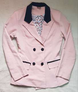 Mags Salmon Pink Casual Blazer