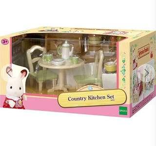 Brand New Sylvanian Families Country Kitchen Set
