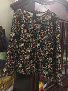 Zara women floral blouse