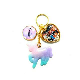 🚚 Customized ombre charms keychains