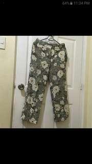 Zara floral square pants not uni qlo. H&M. G2000. Esprit. Warehouse. M&S. F21