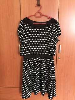 90% New Iora polka dots dress
