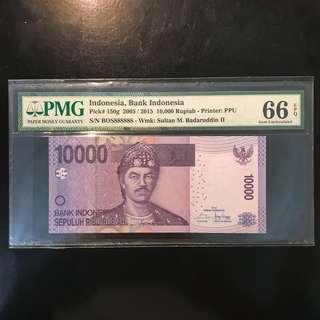 🤩Boss Solid 8s🤩 ! 2005 / 2015 Indonesia 🇮🇩 10000 Rupiah, Super Fancy BOS 888888 Solid 8 Gem 💎 UNC PMG 66 EPQ. BOSS Huat Huat Huat Huat Huat Huat! 老板 发发发发发发。。。 💪🏻💪🏻💪🏻