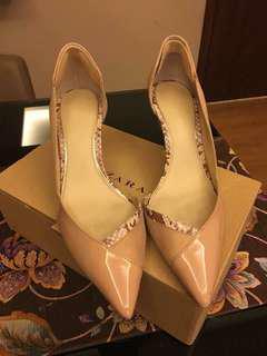 Zara blush kitten heel pumps