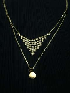 (H&M) Gold Double Necklace