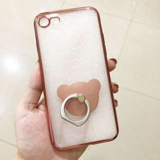 Rose Gold Chrome Case for Iphone 7/8 free iring