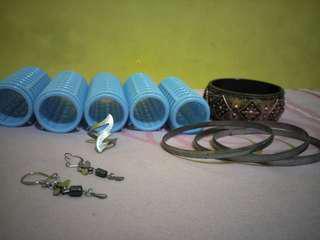 Accessories complete (roll, cincin, gelang, anting)