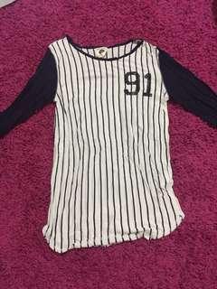 cotton on 91 striped shirt
