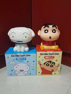 Crayon Shin Chan/ Xiao Bai Dog Porcelain Coin Bank