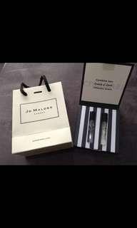🚚 Jo Malone 試管小香組-英國梨與小蒼蘭+青檸羅勒與柑橘(附迷你版提袋)
