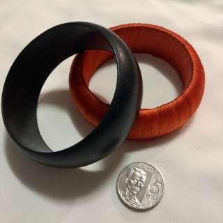 Bangles - Orange & Black