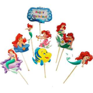 💕 Ariel party supplies - DIY Cake deco / cake toppers / dessert toppers