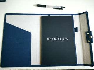 Monologue Writing Pad Folder