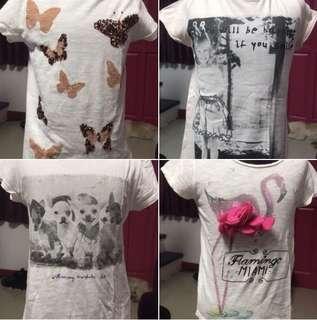 Bundle-4pcs Zara Girls Size 7/8 T-shirts
