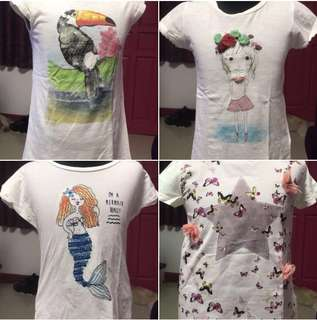 Bundle-4pcs Zara Girls Size 6/7 T-shirts