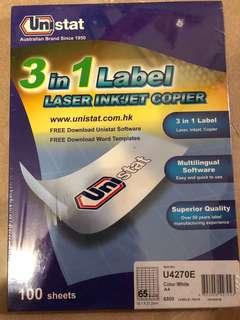 3 in 1 Label LASER INKJET COPIER
