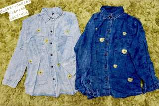 New! Denim oversize Polo from Bangkok with embroid