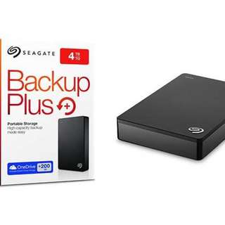 Seagate Backup Plus 4TB Portable Drive