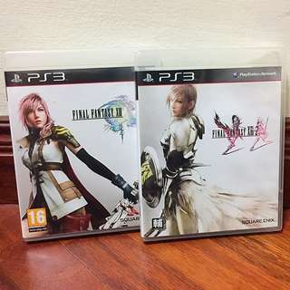 Final Fantasy XIII and Final Fantasy XIII-2 set (PS3)