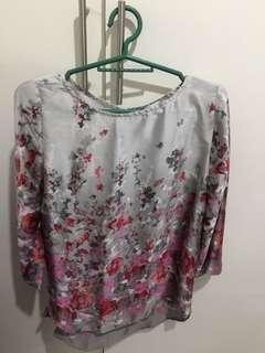 Floral long shirt