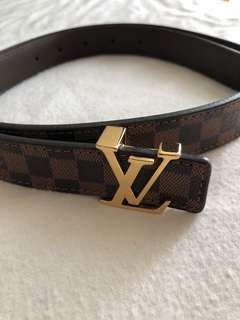 LV 皮帶 (for women) (90% new) bought from UK LV shop