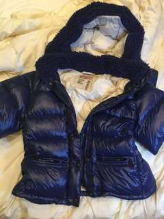 Prada blue down jacket