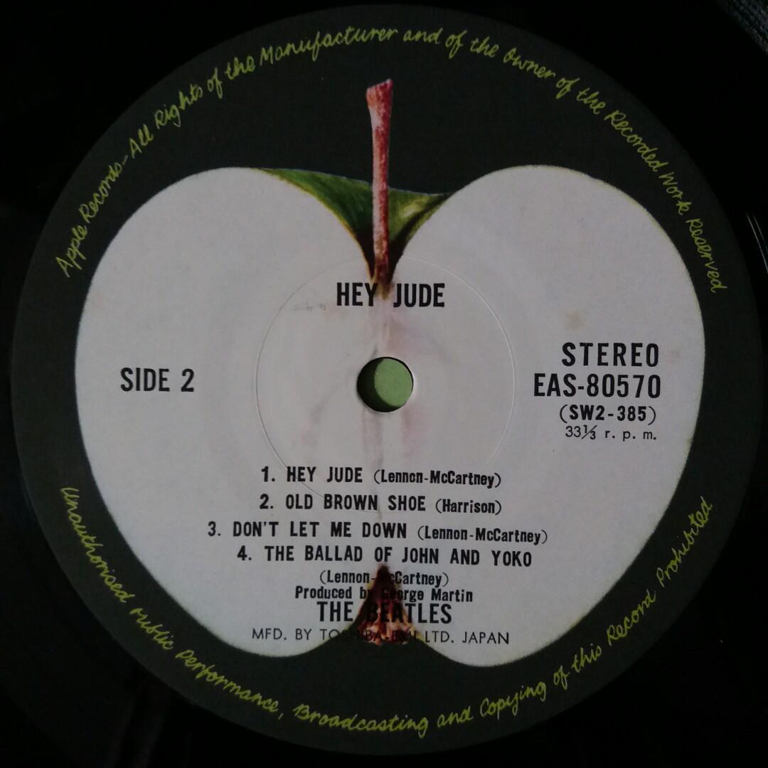"""【舊版""""Rock""""黑膠唱片】The Beatles ~ Hey Jude (Jul 1976 Japan)"""