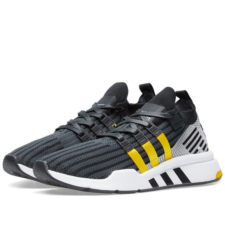 the latest 66032 0406a ... promo code for adidas eqt support mid adv pk black yellow white mens  fashion footwear sneakers ...