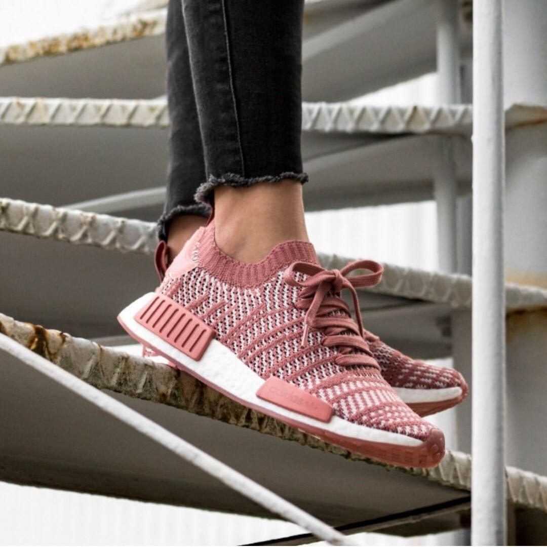 separation shoes 7bd3c fe288 ADIDAS NMD R1 STLT PK W (ASH PINK  ORCHID TINT  FTWR WHITE .