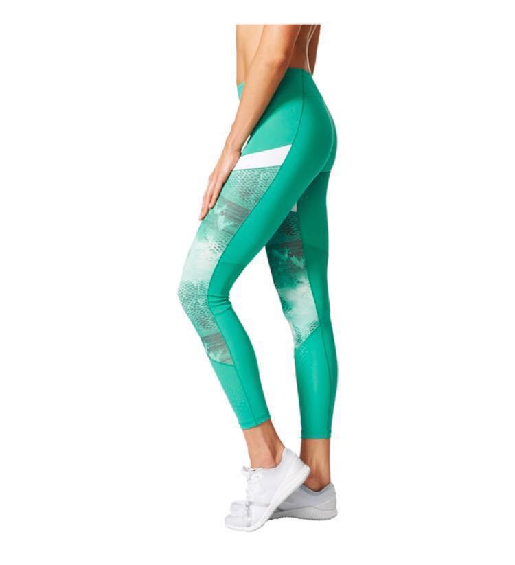 5102d2987df33 Adidas Ultimate Womens xs Green Climalite Running Long Tights ...