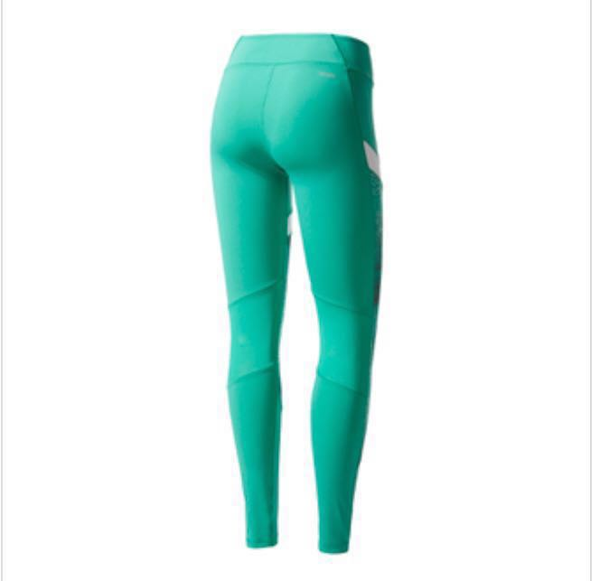 e0faa19bc944b Adidas Ultimate Womens xs Green Climalite Running Long Tights Bottoms Pants,  Sports, Sports Apparel on Carousell