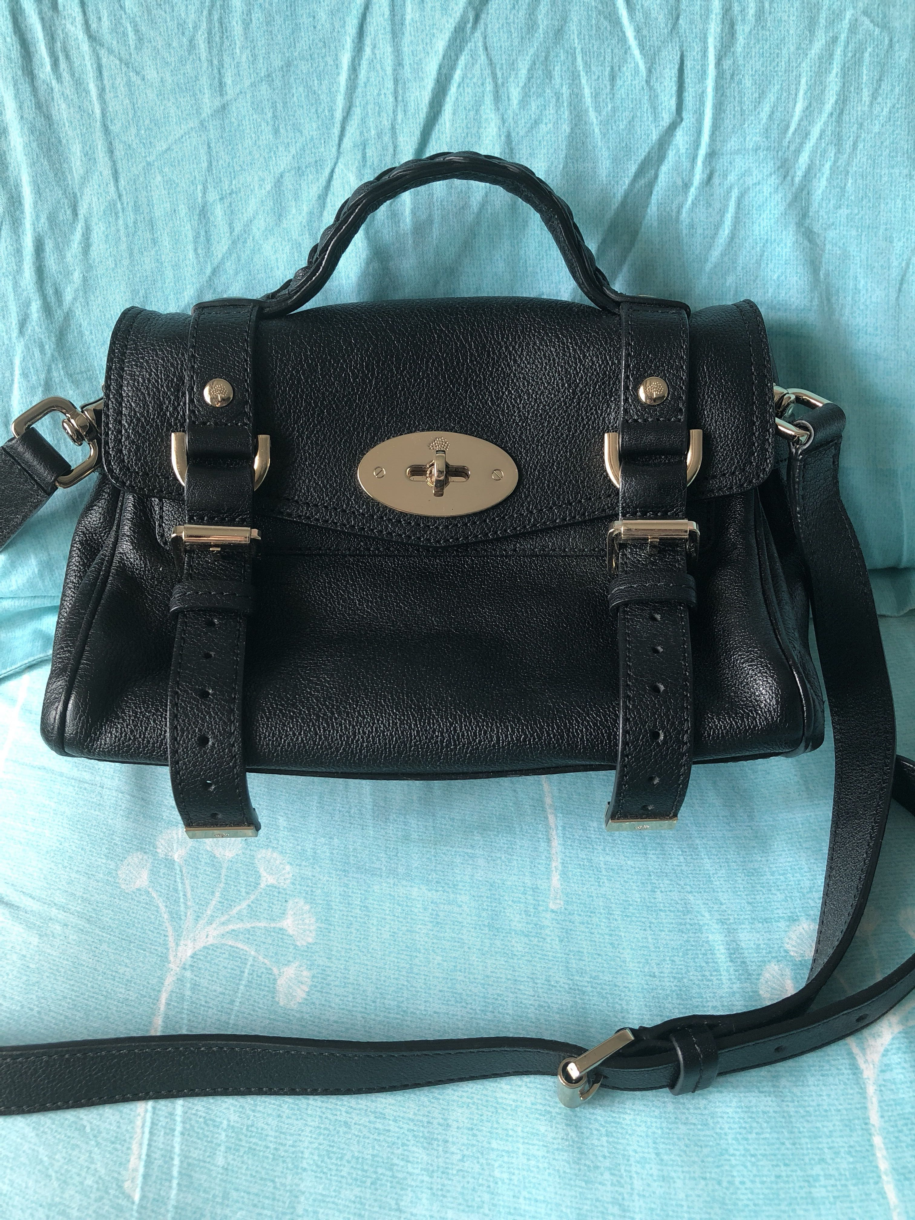 d37d349317 Almost New Mulberry Mini Alexa in Black GHW