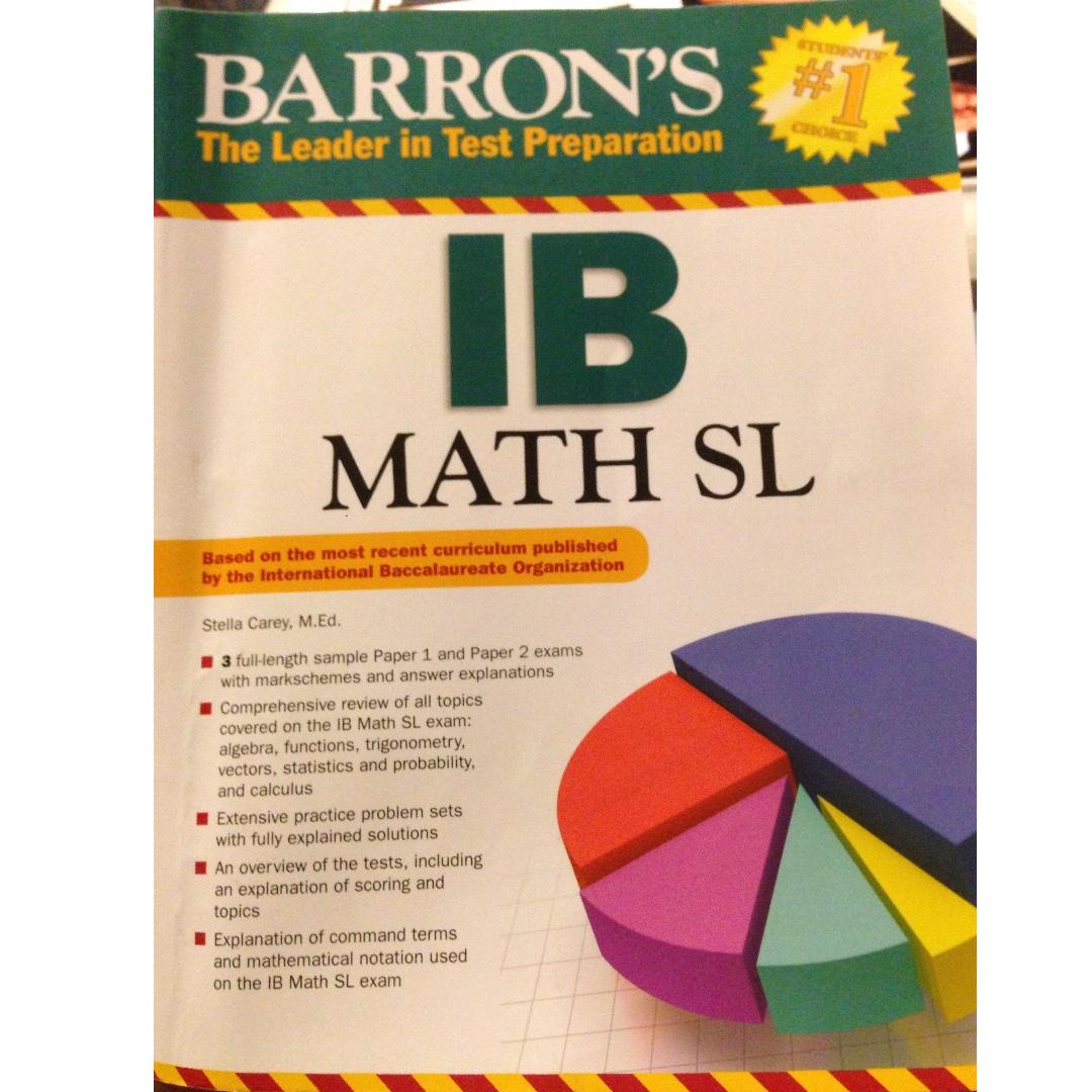 Barron's IB Math's Textbook, Books & Stationery, Textbooks
