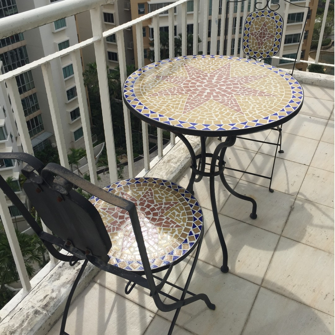 Beautiful Outdoor Mosaic Tile Patio Table Chairs Furniture Tables On Carou