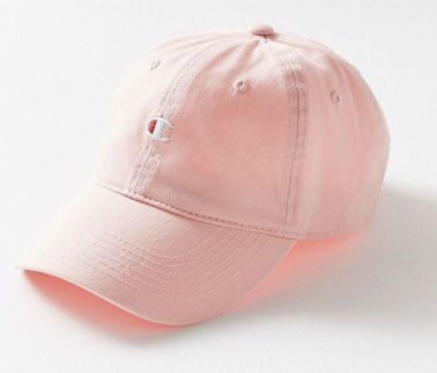 c49b54c5435e5 BNWT Light Pink Champion Logo Baseball Cap