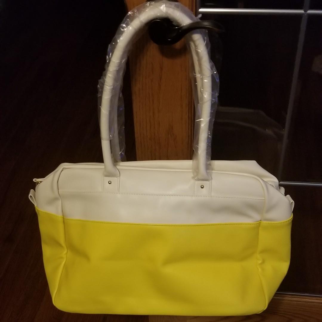 Bone/Sunflower Issac Mizrahi Travel Bag