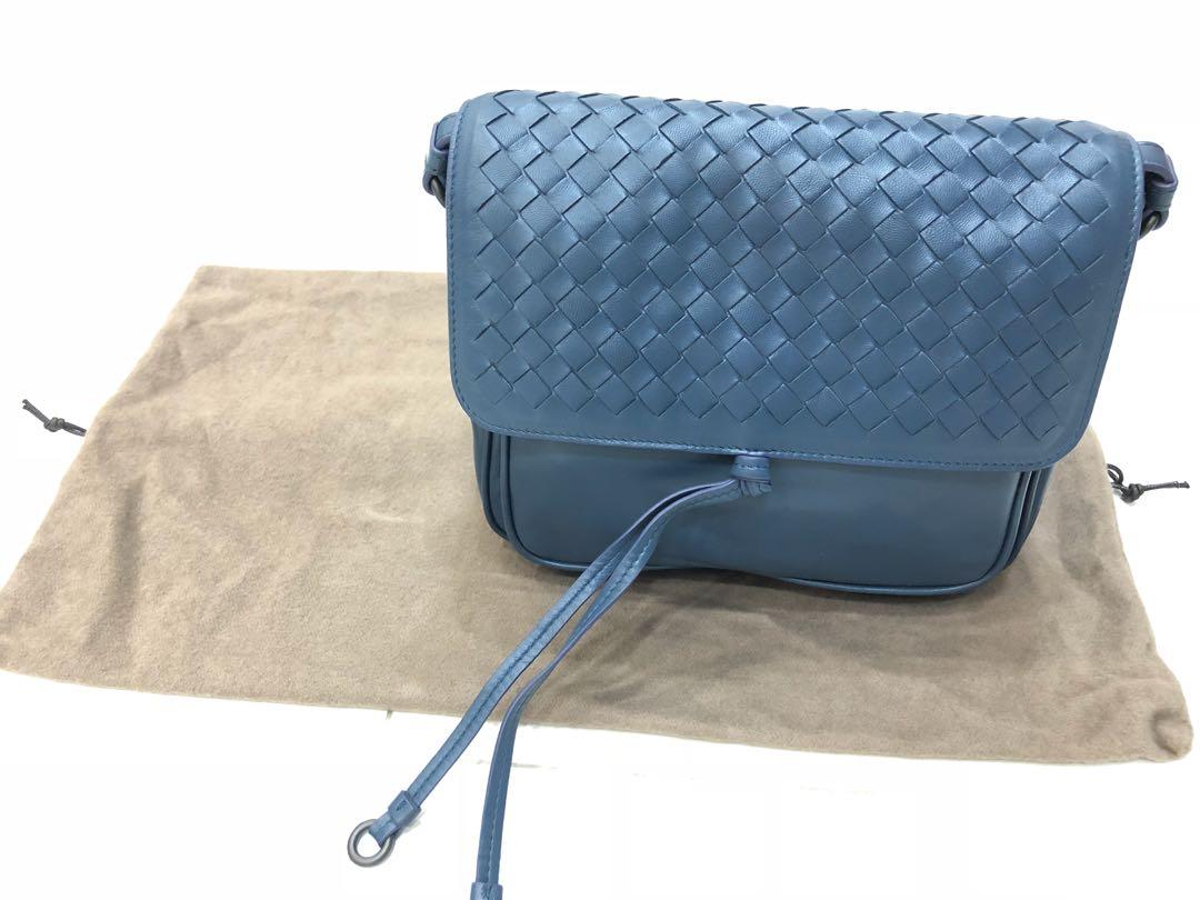 d3d838d697 BRAND NEW! Bottega Veneta Intrecciato Flap Tie-Front Messenger Bag ...