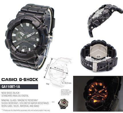 CASIO G-SHOCK GA100 WATCHES