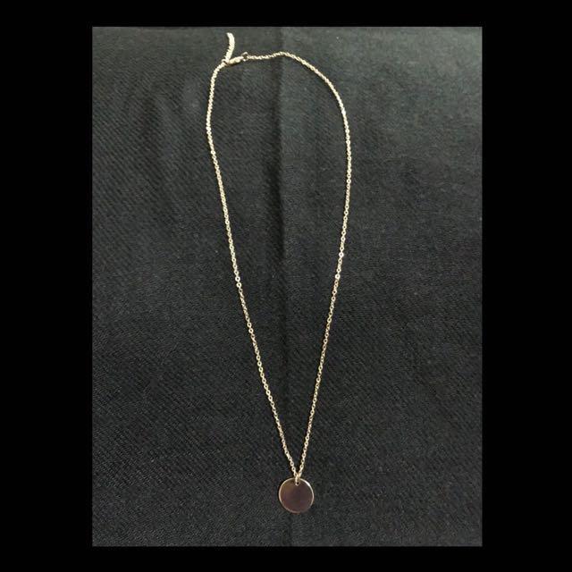 c0547e5129236 Clarisse Gold Round Coin Pendant Necklace