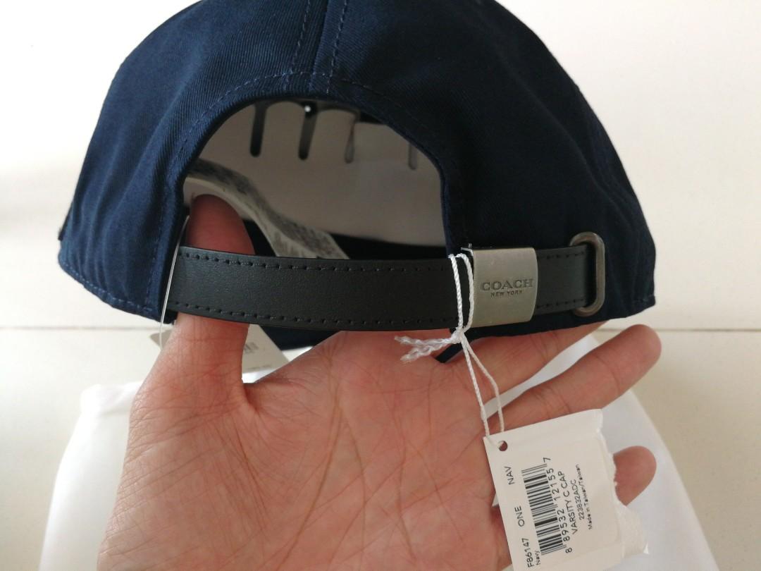 750aa4e266d9a Coach navy blue varsity cap one size