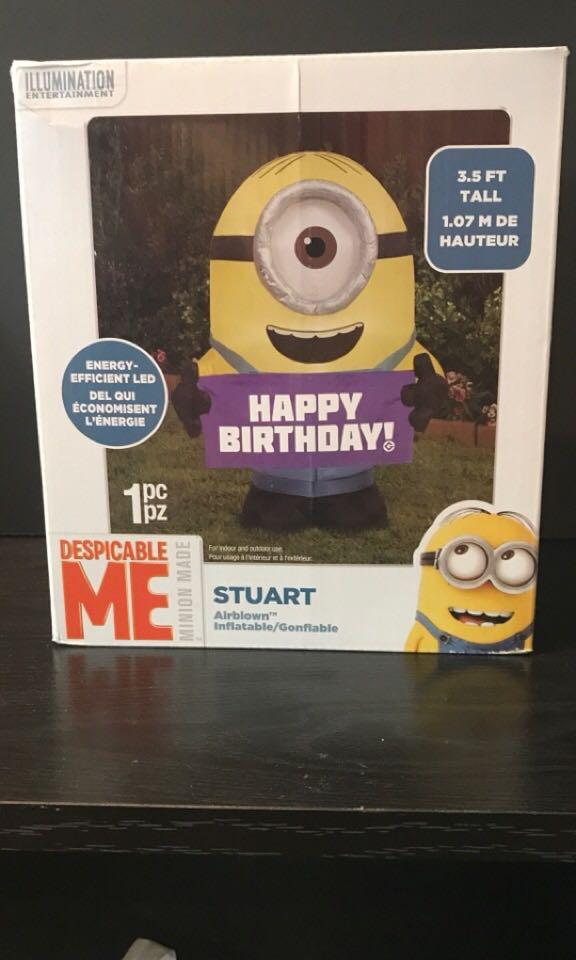 Despicable me Minion, Stuart-happy birthday inflatable