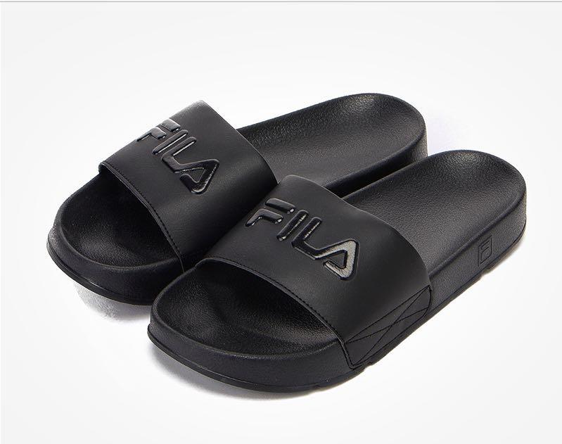 4e7a3bb3afd Fila Drifter   Slider   Slipper   Sandal Full Black
