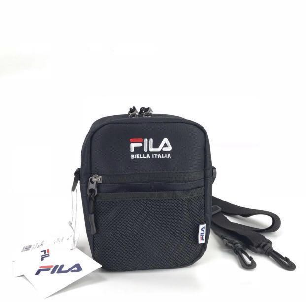 6e8b08a286 Fila Sling Bag - Black, Men's Fashion, Bags & Wallets, Sling Bags on ...