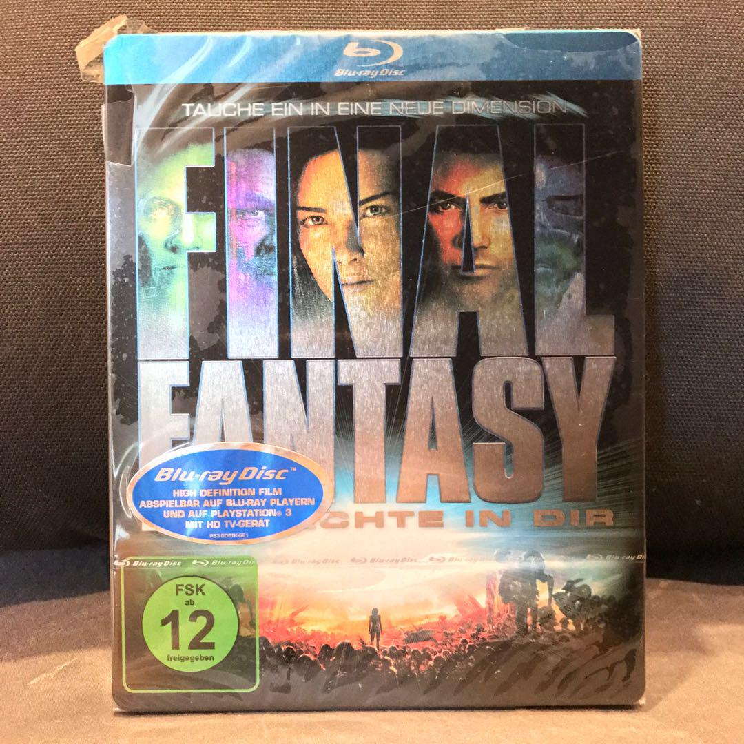 FINAL FANTASY THE SPIRITS WITHIN (2010, Germany, Region Free) Blu-ray Steelbook Brand New Sealed OOP Bluray US$34