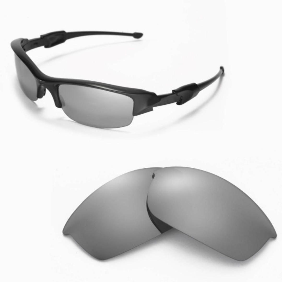cb780350a7 Flak Jacket Titanium POLARIZED Replacement Walleva Lense for Oakley ...