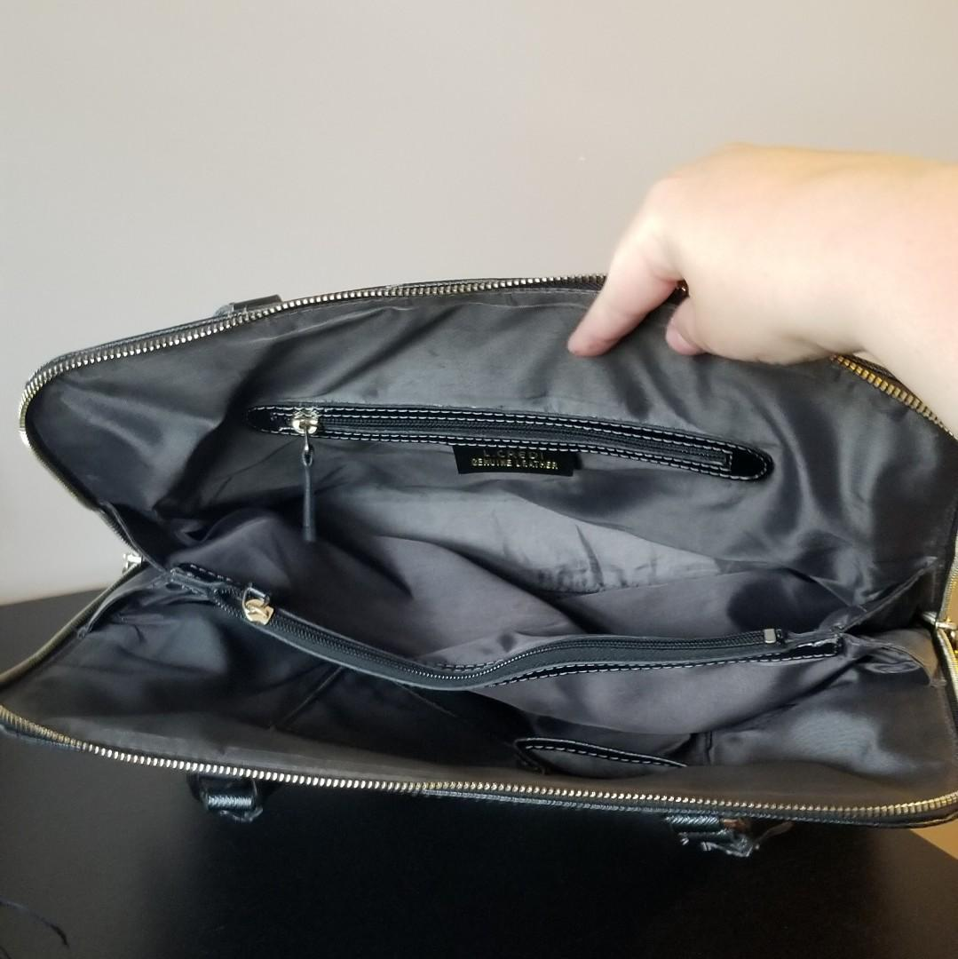 L.Credi Black Leather Bag