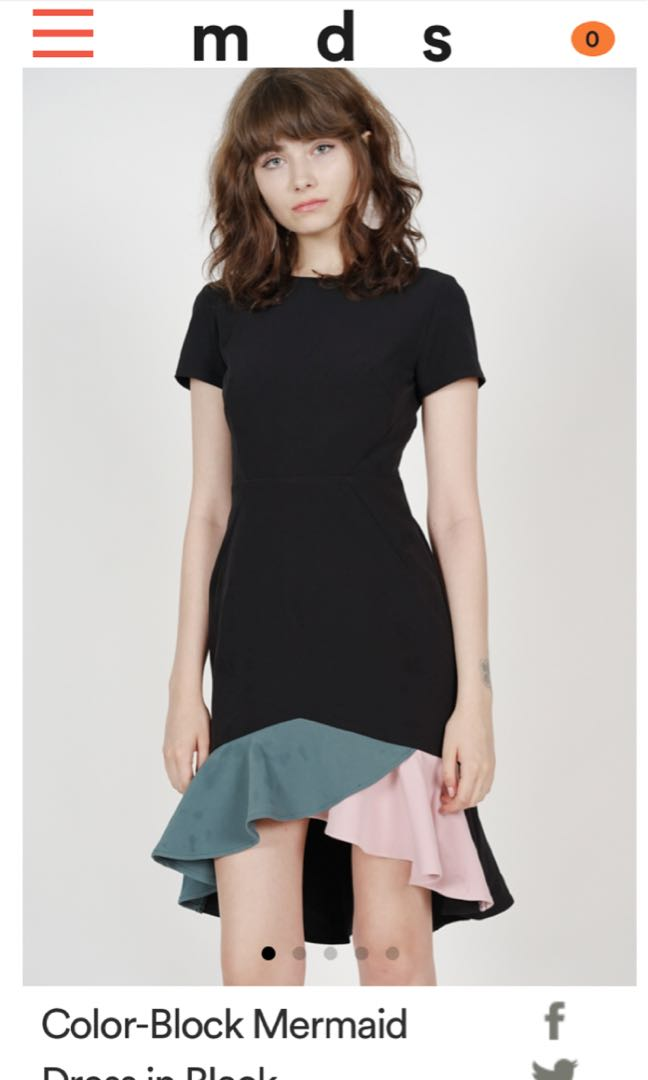 a0a4fcea8fa4 MDS Color-Block Mermaid Dress in Black, Women's Fashion, Clothes ...