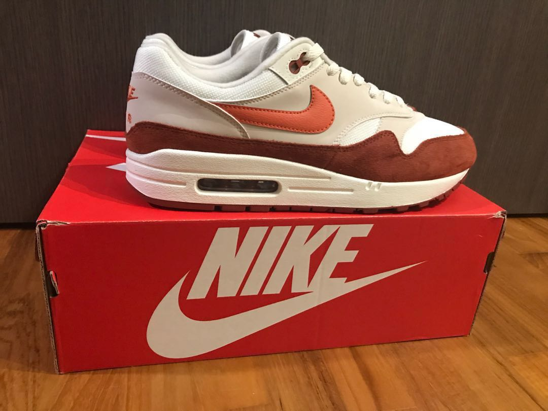 cheap for discount 38cbd c7310 NIKE AIR MAX 1 (SAIL   VINTAGE CORAL - MARS STONE), Men s Fashion,  Footwear, Sneakers on Carousell
