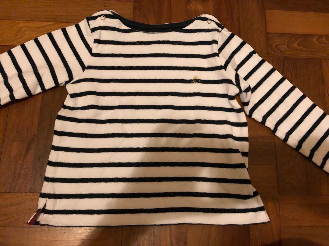 1ed9deaa12a Petit Bateau Navy Striped Nautical Sweater - 4 ans